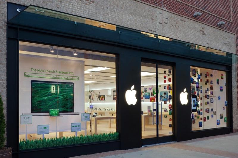 Витрины Apple Store закроют черными шторами