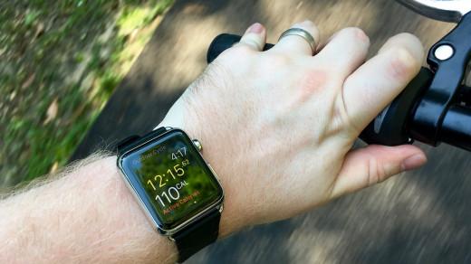 Apple Watch и велопрогулка
