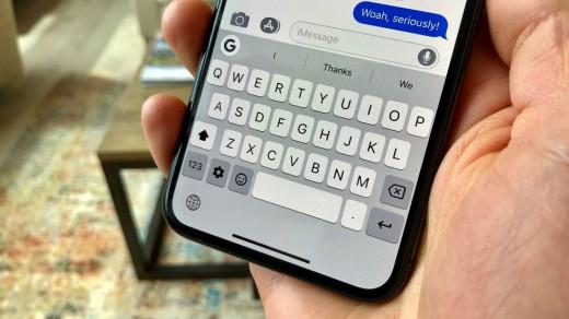Клавиатура на iPhone 11