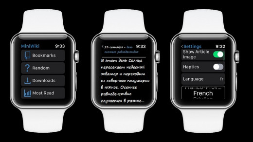 Приложение Mini Wiki позволит узнать короткие факты прямо из Apple Watch