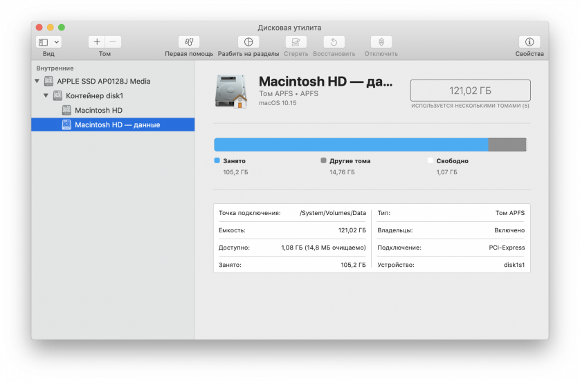 Системный том macOS