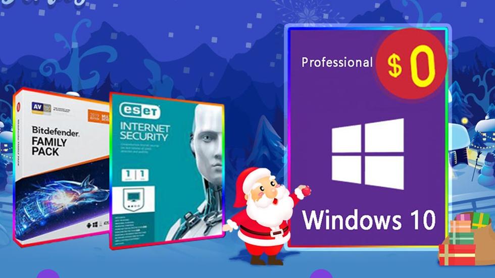 Новогодний подарок: Windows 10 Pro бесплатно, скидка 50% на лицензионные антивирусы