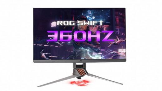 Asus представила первый игровой монитор счастотой 360Гц