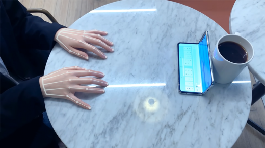 Samsung презентовала «невидимую» клавиатуру SelfieType