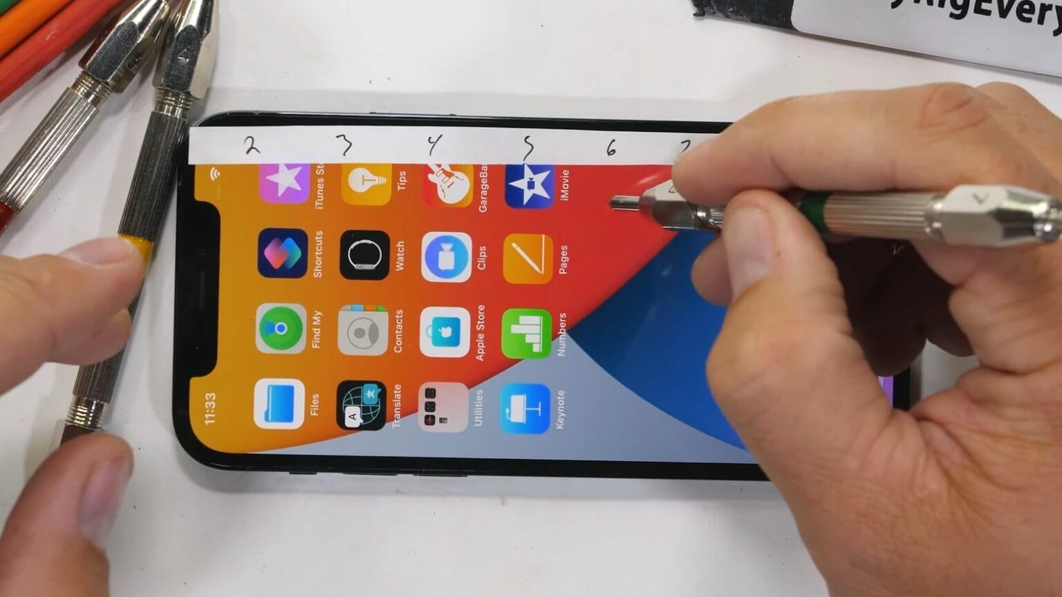Тест на царапины iPhone 12