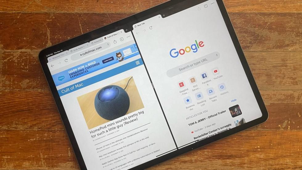В Google Chrome включили поддержку нескольких окон на iPad
