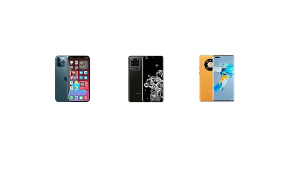 Битва флагманов — сравнение iPhone 12 Pro Max, Huawei Mate 40 Pro и Samsung Galaxy S20 Ultra