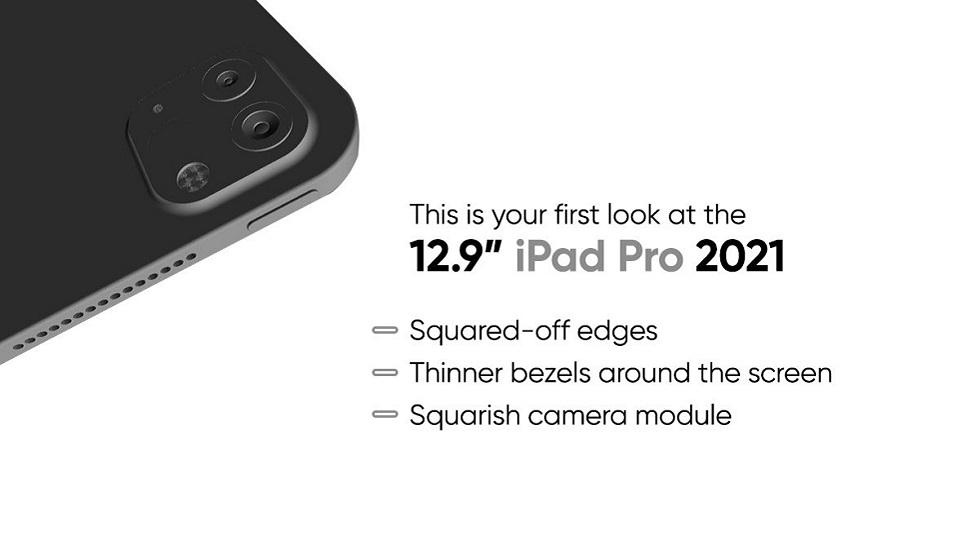 iPad Pro 2021 со всех сторон на рендерах