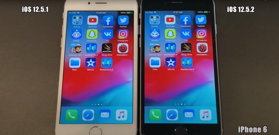 Насколько iOS 12.5.2 быстрее, чем iOS 12.5.1