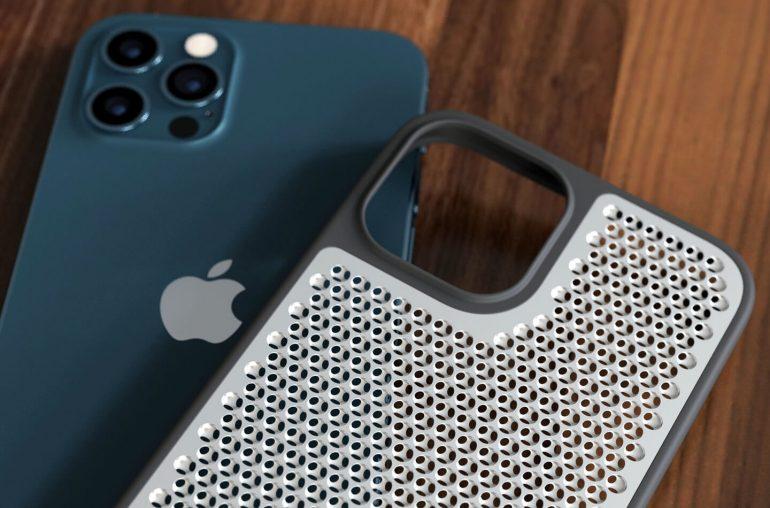 Чехол для iPhone 12 Pro с текстурой терки для сыра