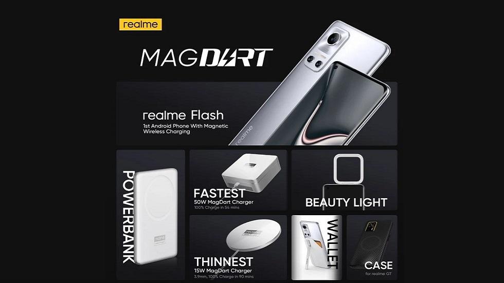 Представлена быстрая магнитная зарядка MagDart от realme — в 3 раза быстрые MagSafe от Apple