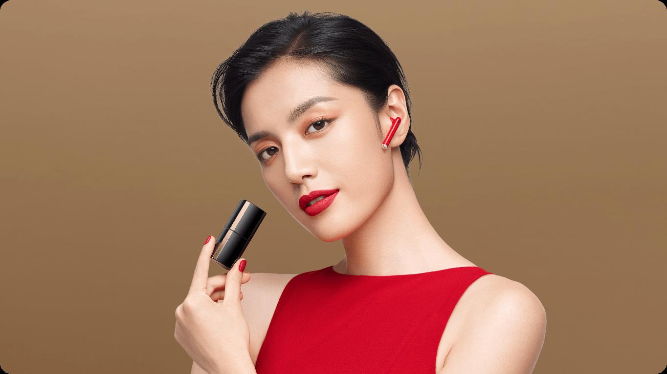 Премиальные беспроводные наушники HUAWEI FreeBuds Lipstick — лучший подарок для девушки